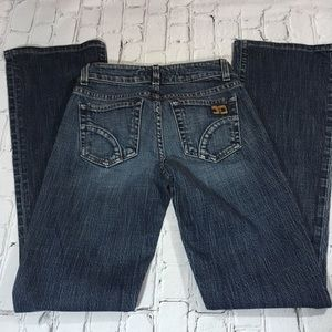 "Joe's jeans size 24"" fit honey"